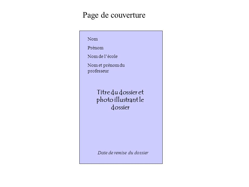 Titre du dossier et photo illustrant le dossier
