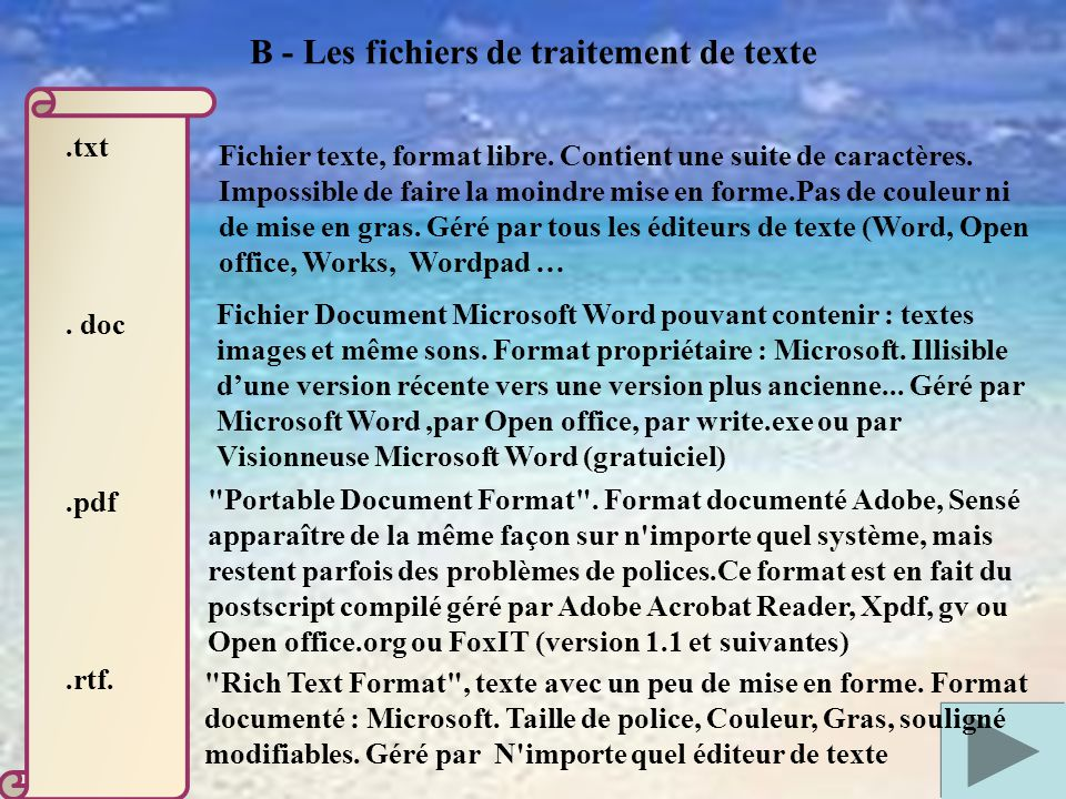 Notion de fichiers et de dossiers ppt video online - Telecharger traitement de texte open office ...