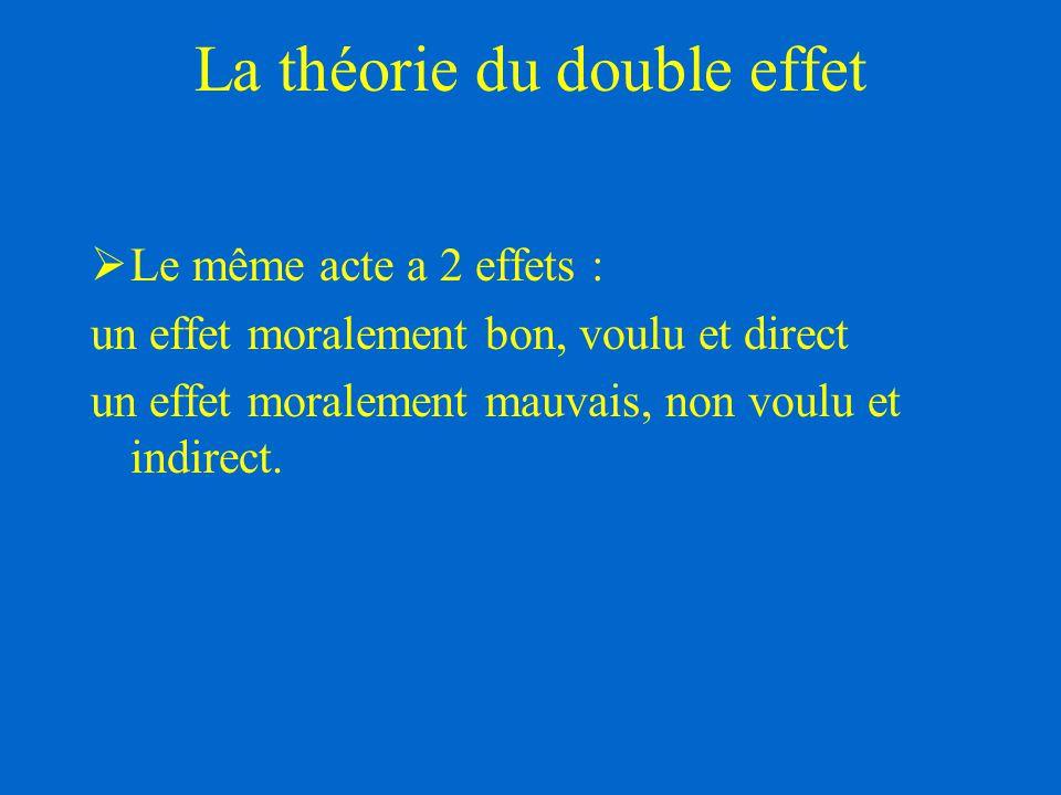 La théorie du double effet