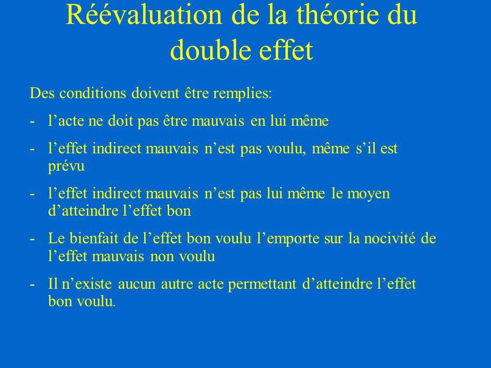 Réévaluation de la théorie du double effet