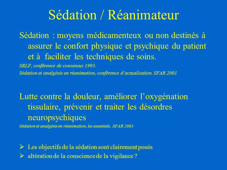 Sédation / Réanimateur