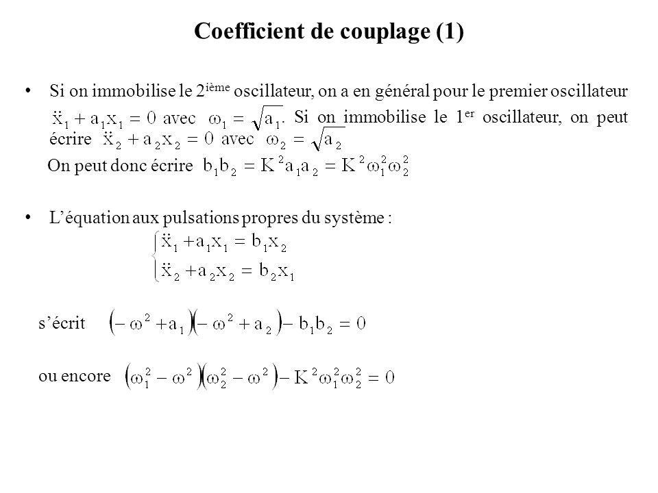 Coefficient de couplage (1)