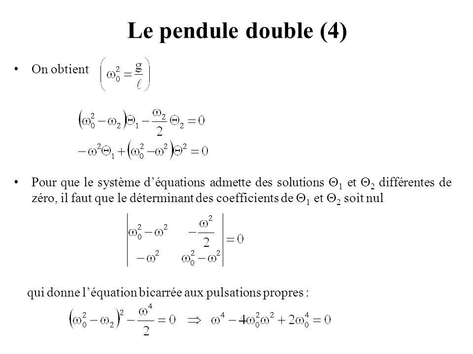 Le pendule double (4) On obtient