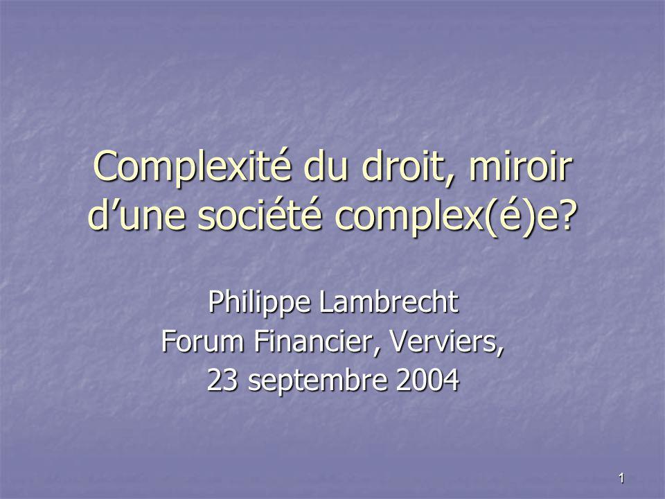 Complexité du droit, miroir d'une société complex(é)e