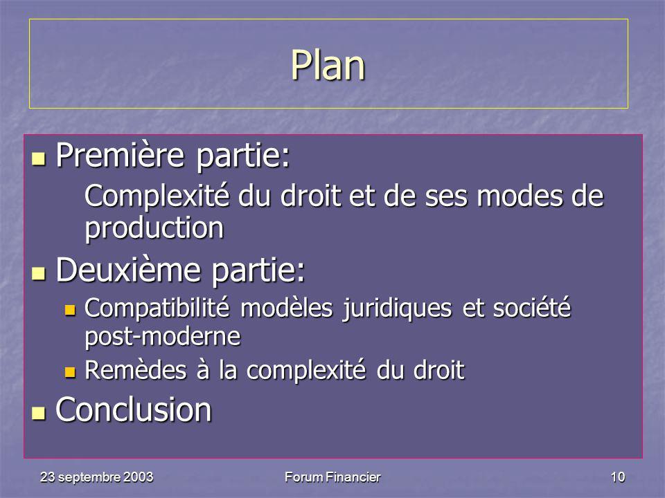 Plan Première partie: Deuxième partie: Conclusion