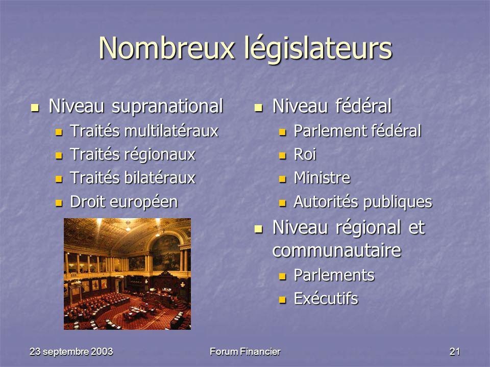 Nombreux législateurs