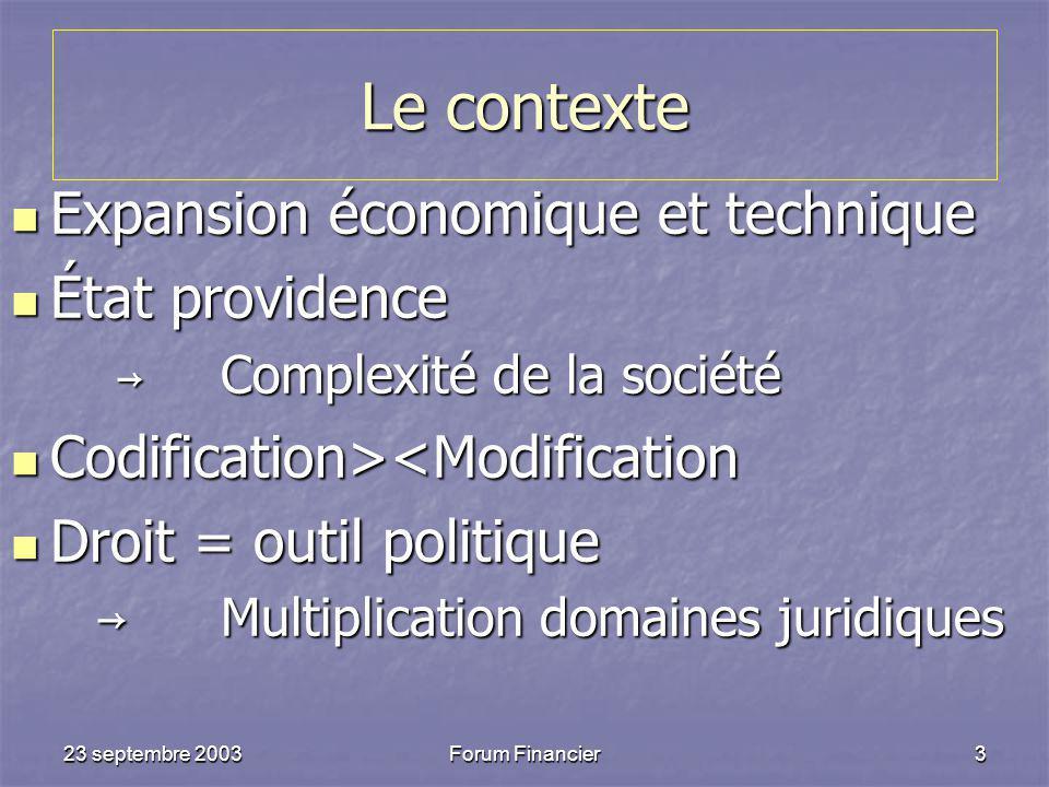 Le contexte Expansion économique et technique État providence