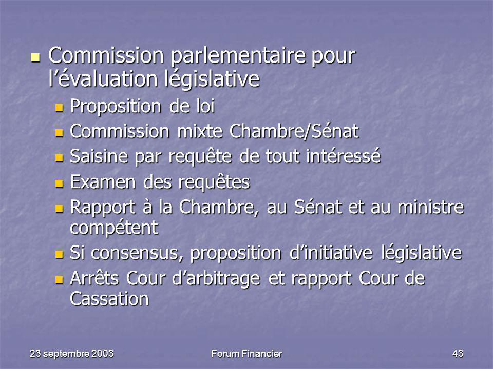 Commission parlementaire pour l'évaluation législative