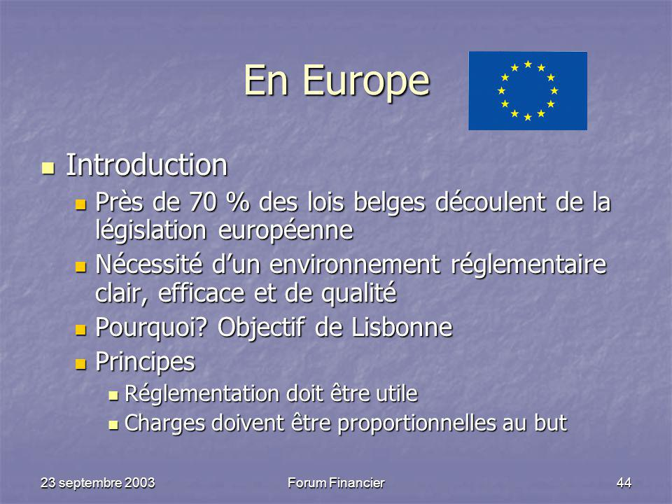 En Europe Introduction