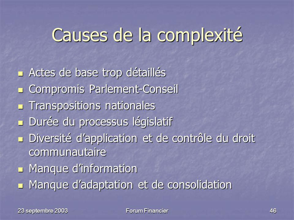 Causes de la complexité
