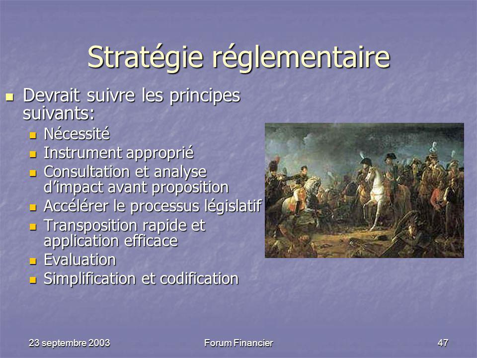 Stratégie réglementaire