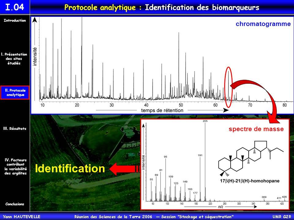 Protocole analytique : Identification des biomarqueurs