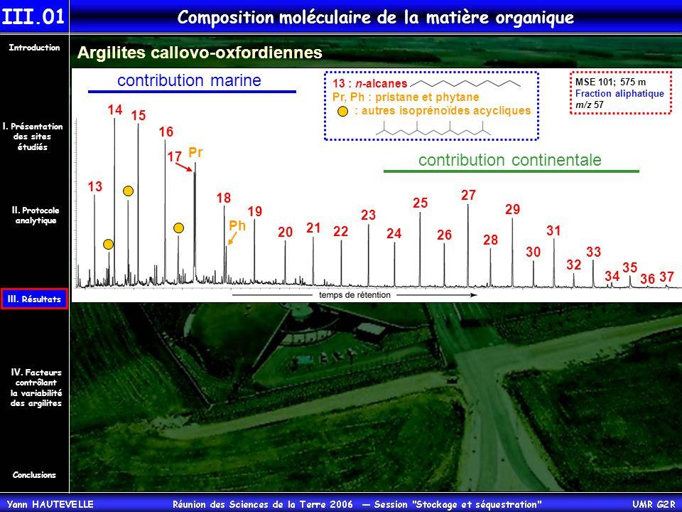 Composition moléculaire de la matière organique