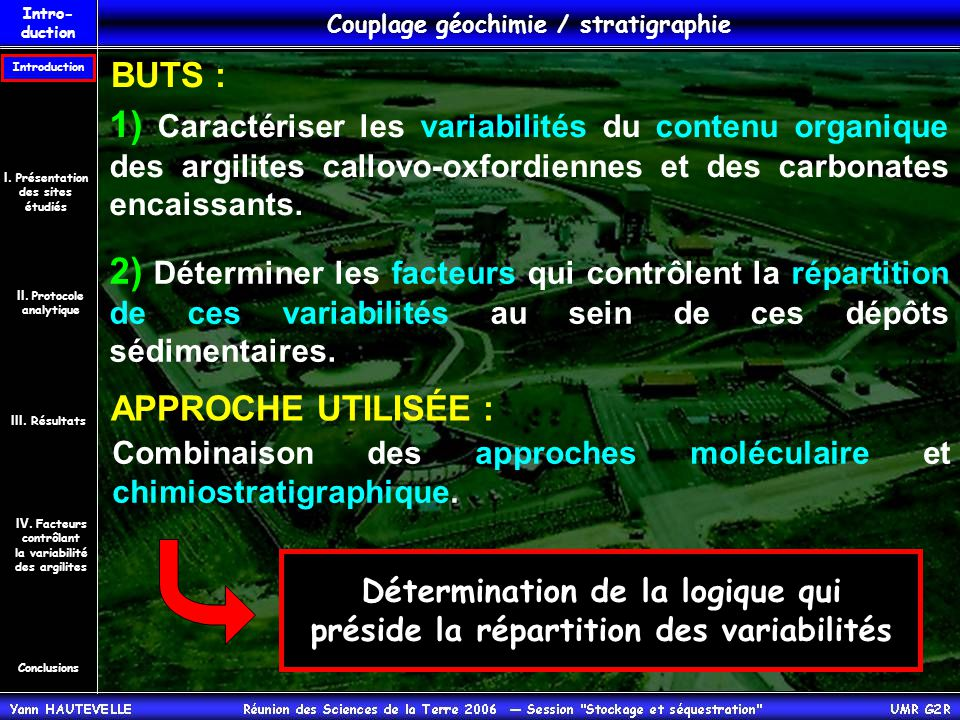 Couplage géochimie / stratigraphie