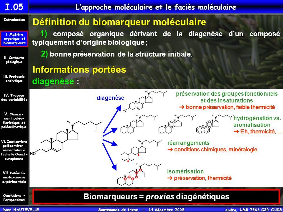 L'approche moléculaire et le faciès moléculaire