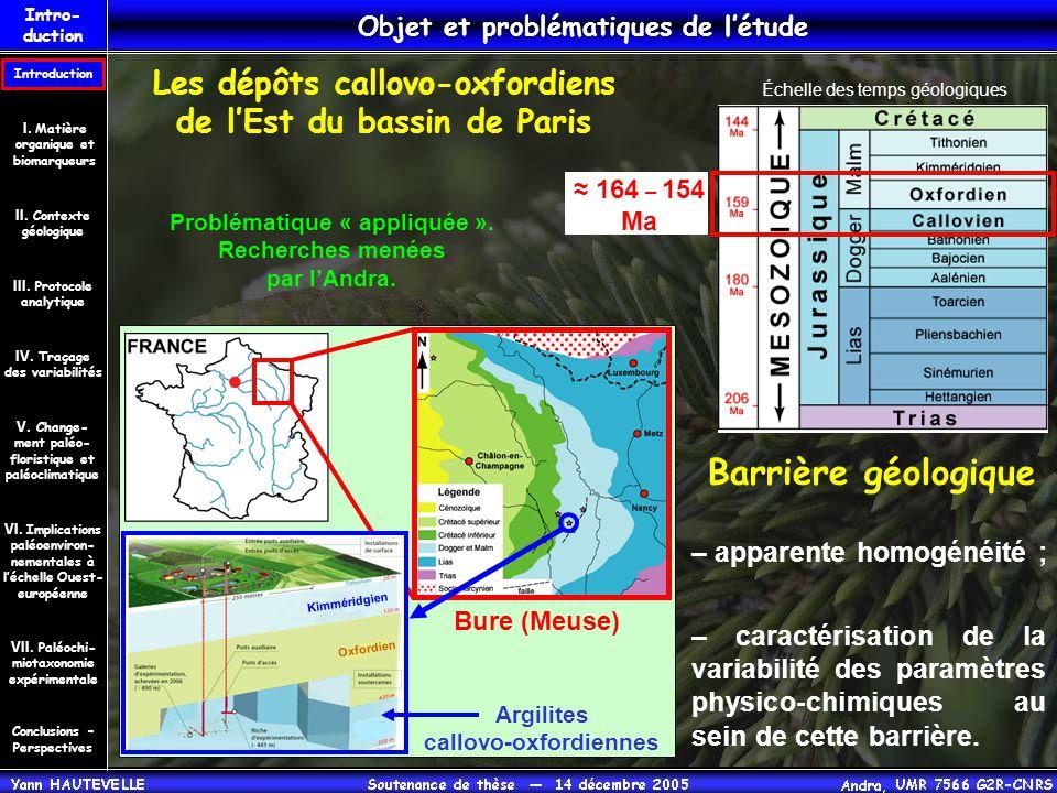 Barrière géologique Les dépôts callovo-oxfordiens