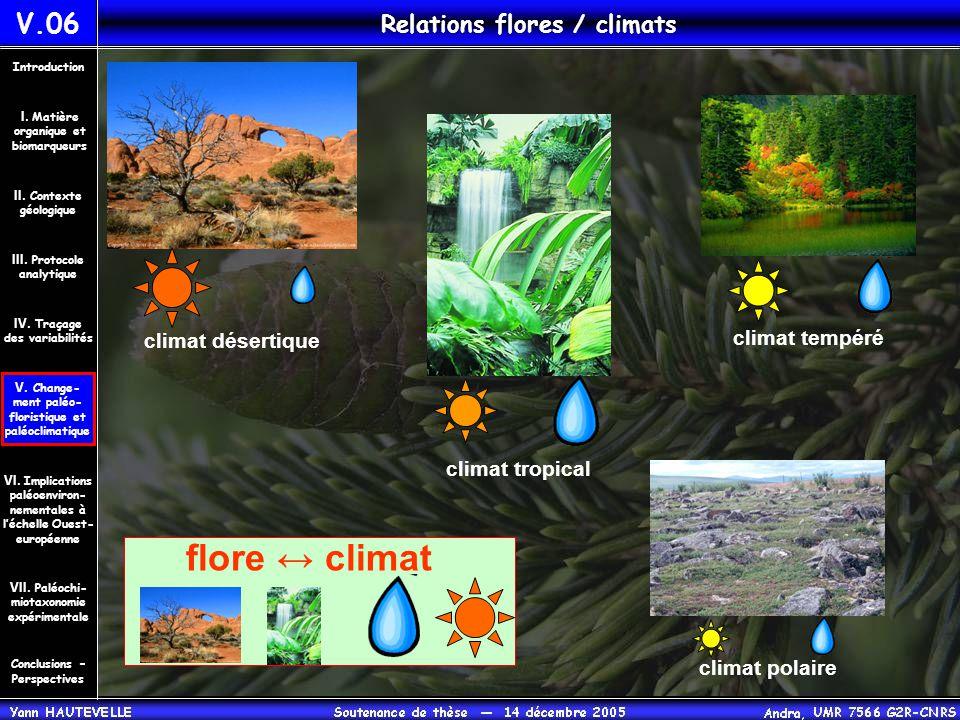 Relations flores / climats