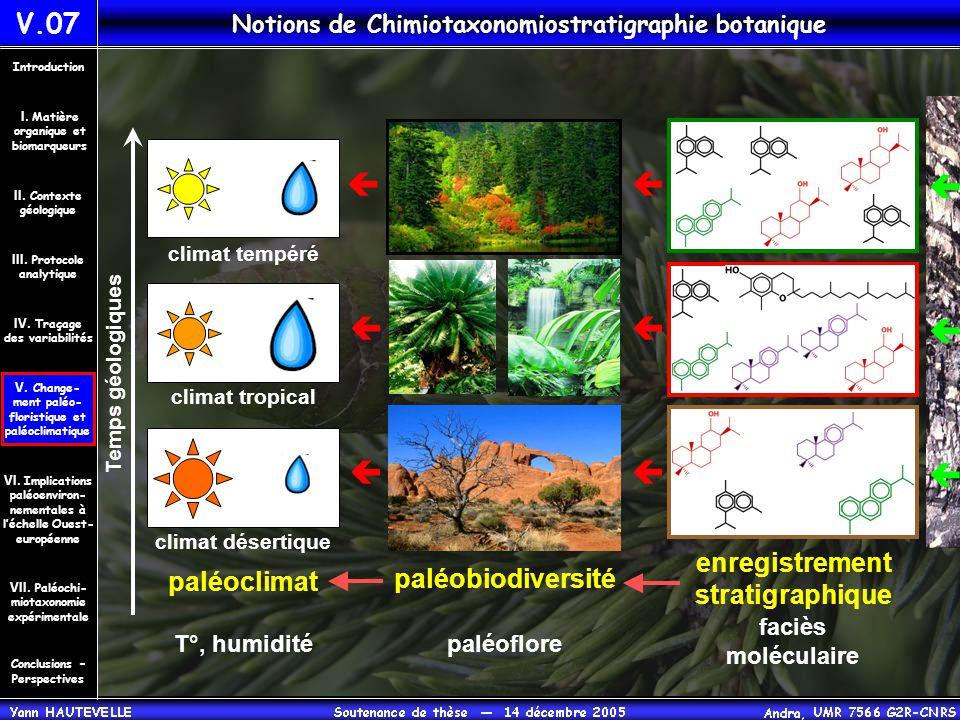 Notions de Chimiotaxonomiostratigraphie botanique