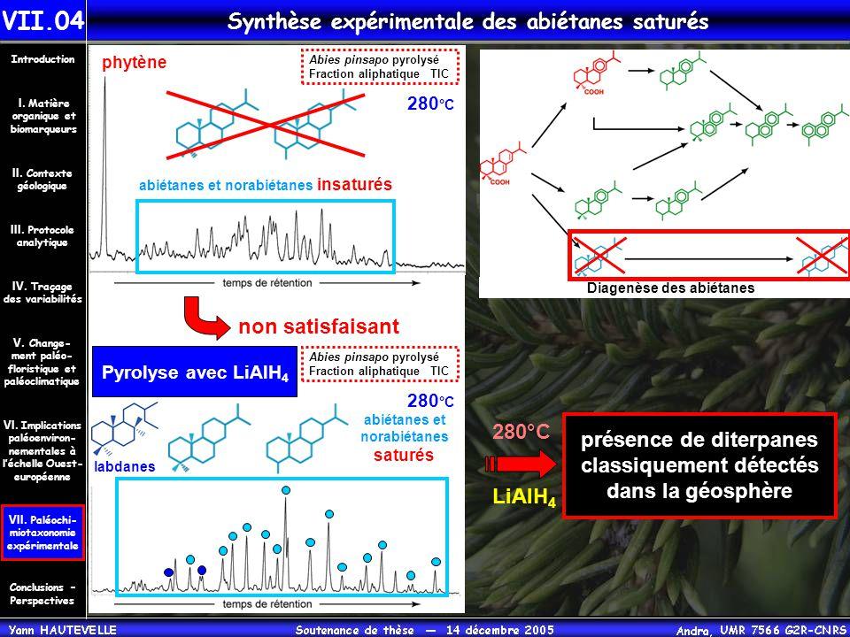 Synthèse expérimentale des abiétanes saturés