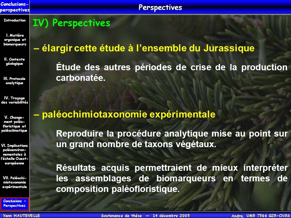– élargir cette étude à l'ensemble du Jurassique