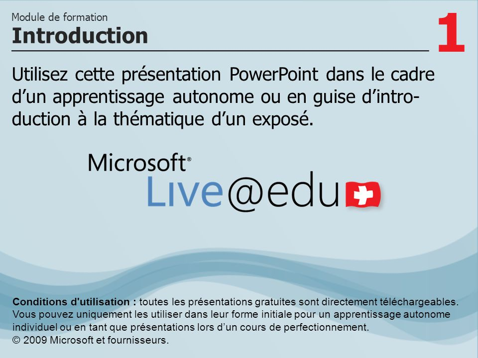 Module de formation Introduction.