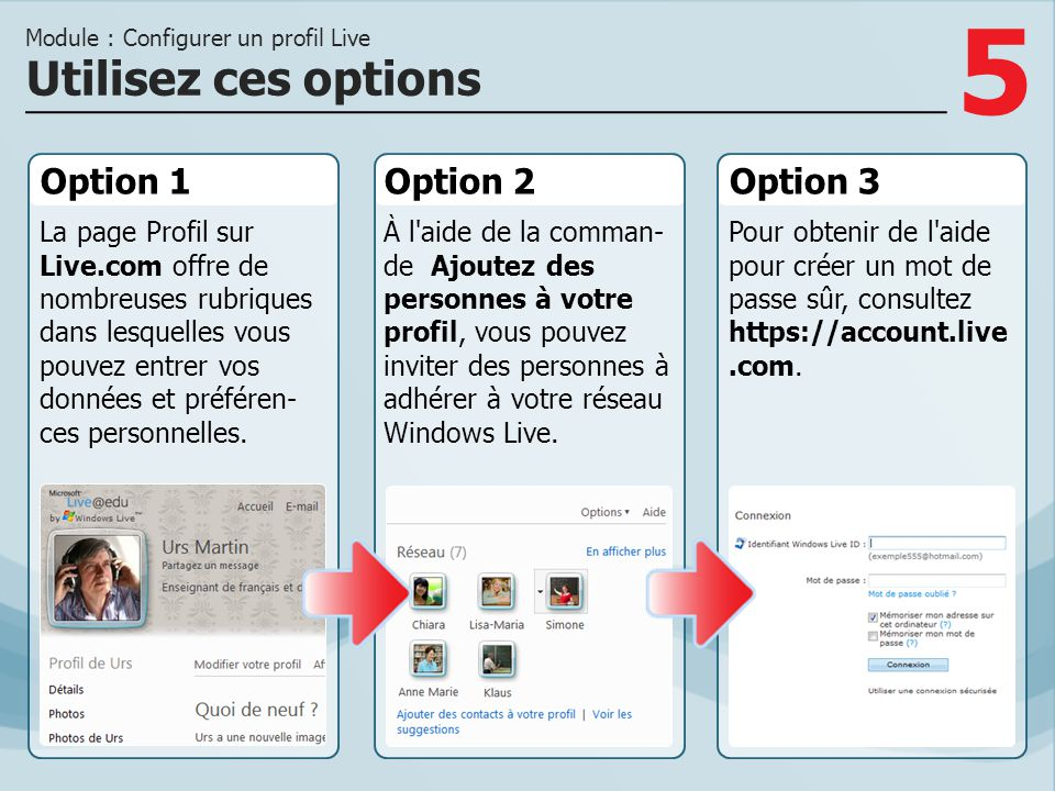 Module : Configurer un profil Live