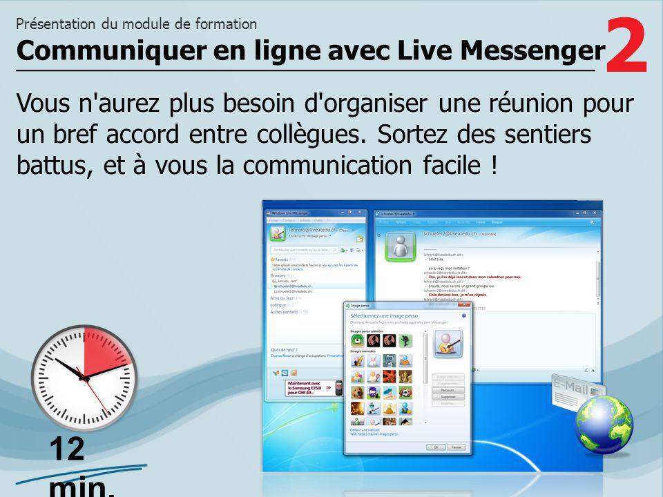 Communiquer en ligne avec Live Messenger