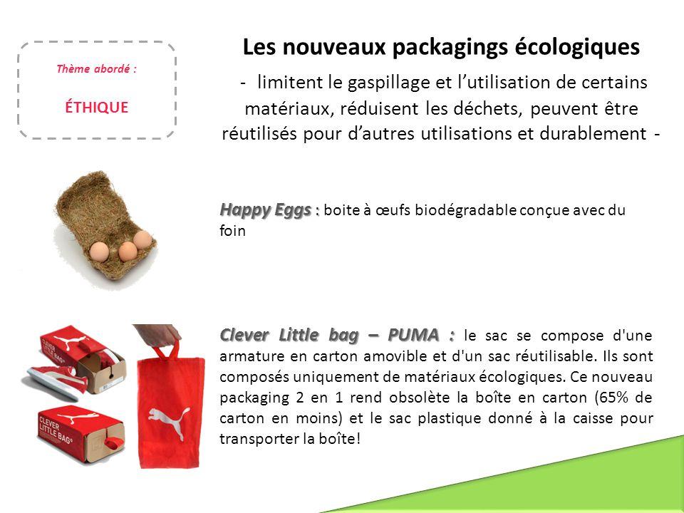 Les nouveaux packagings écologiques