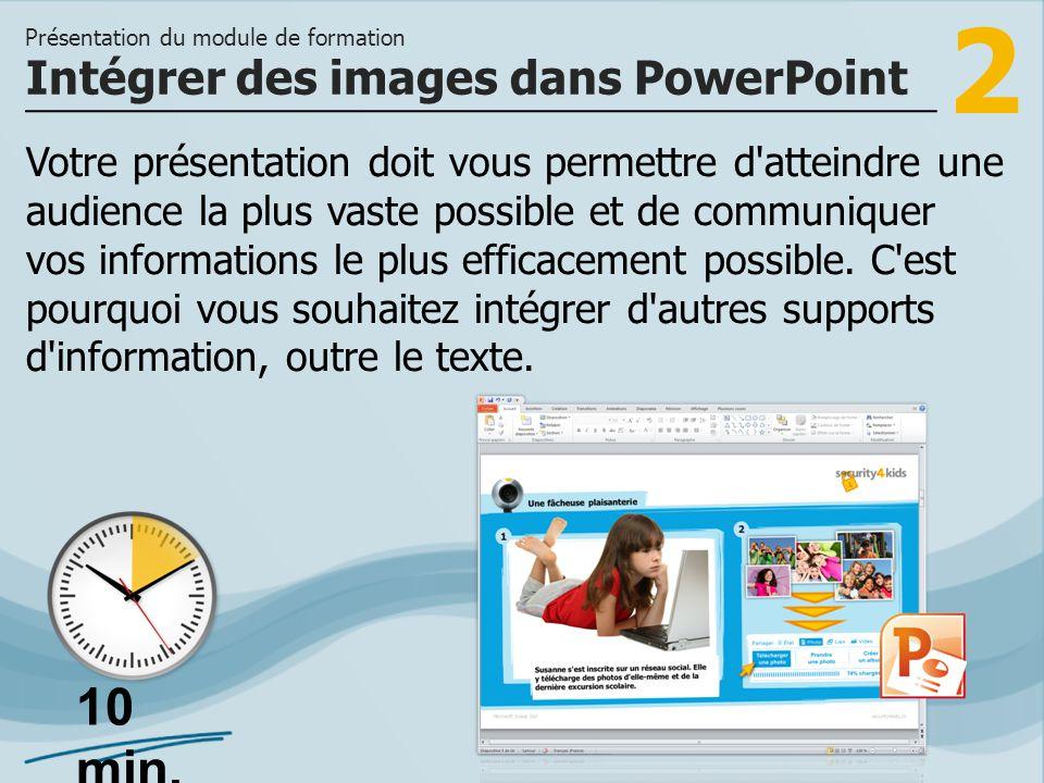 Intégrer des images dans PowerPoint