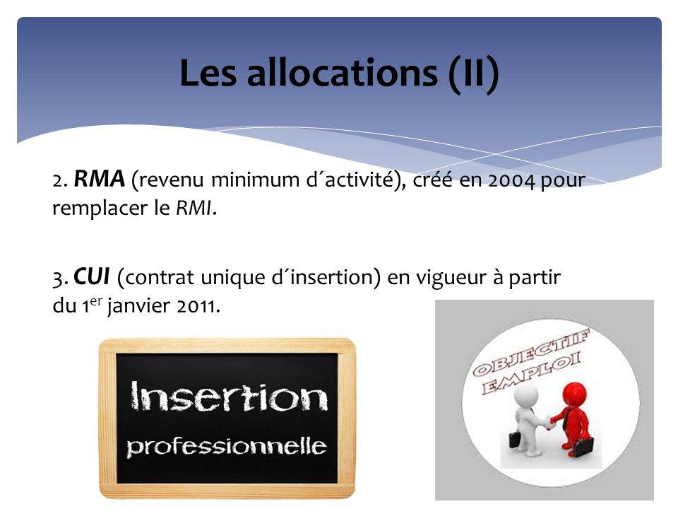 Les allocations (II)