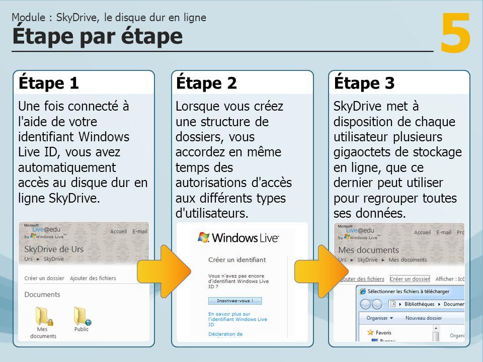 Module : SkyDrive, le disque dur en ligne