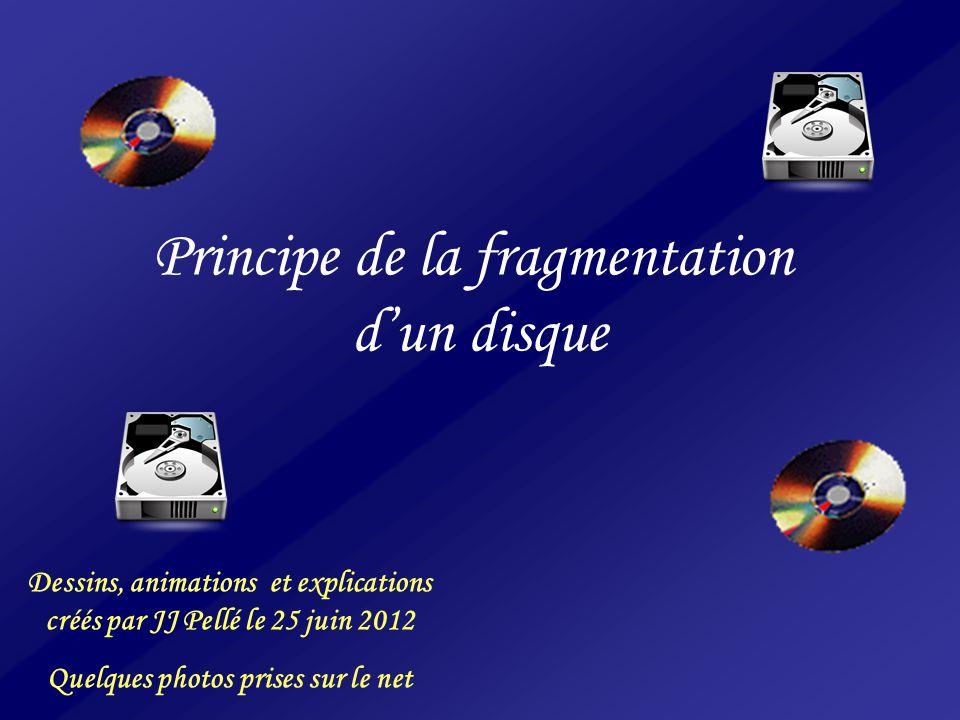 Principe de la fragmentation d'un disque
