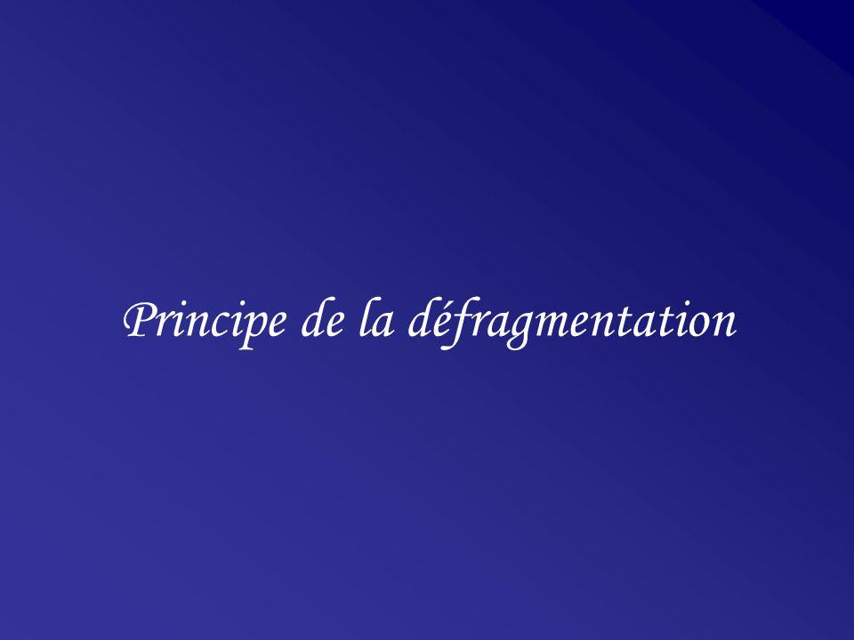 Principe de la défragmentation