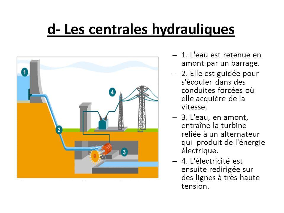 d- Les centrales hydrauliques