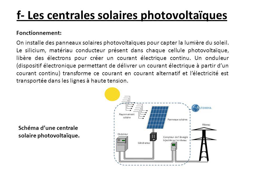 f- Les centrales solaires photovoltaïques