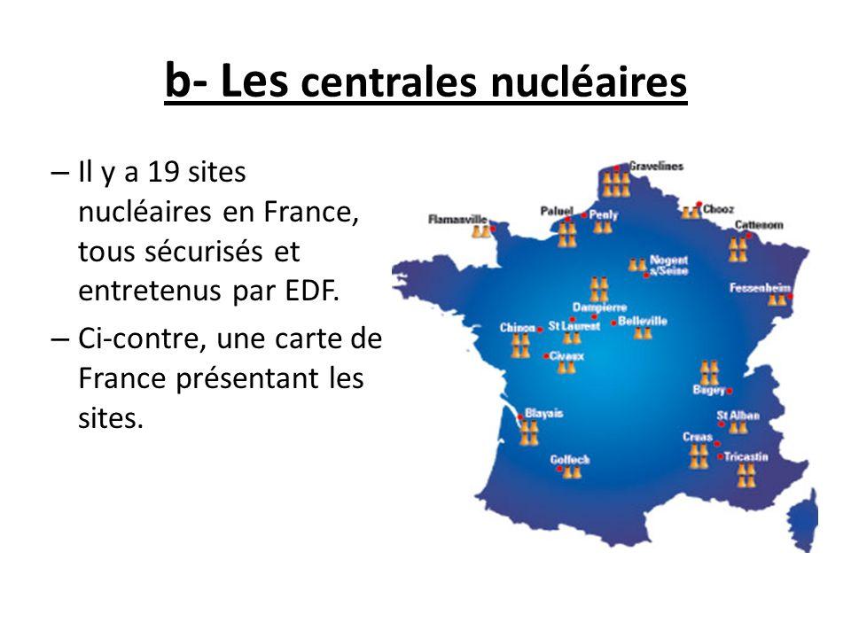 b- Les centrales nucléaires