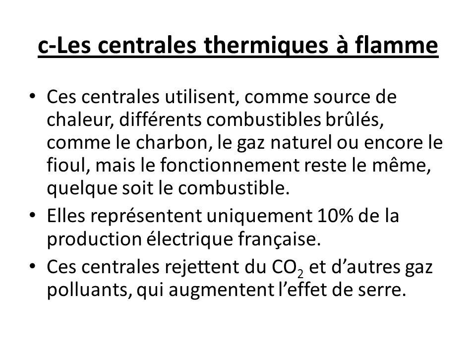c-Les centrales thermiques à flamme