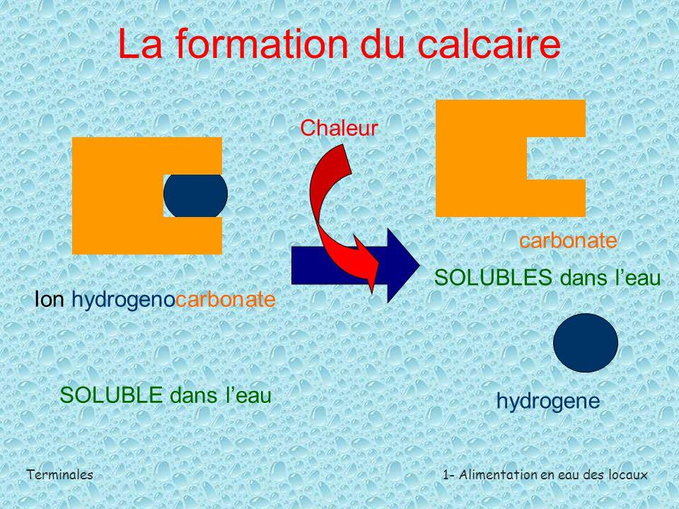 La formation du calcaire