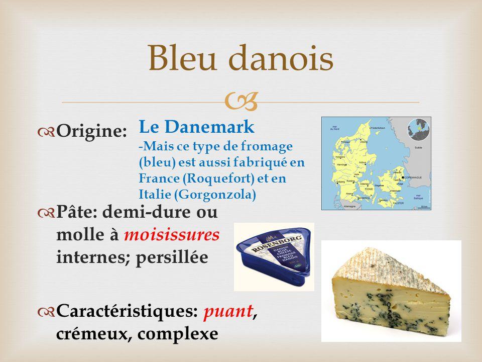 Bleu danois Le Danemark Origine: