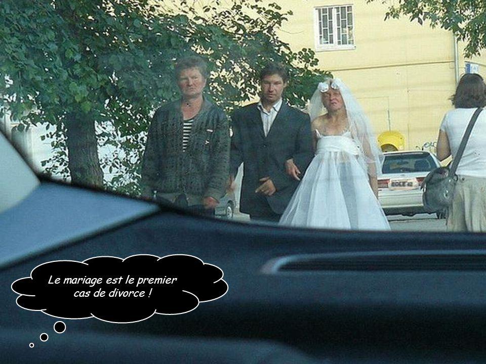 Le mariage est le premier cas de divorce !
