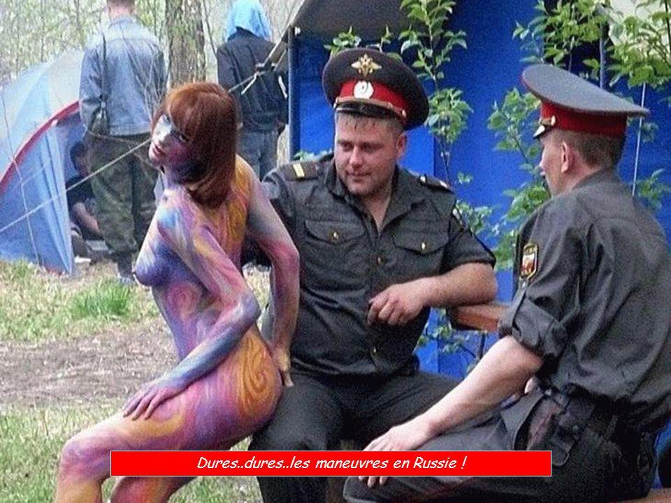 Dures..dures..les maneuvres en Russie !