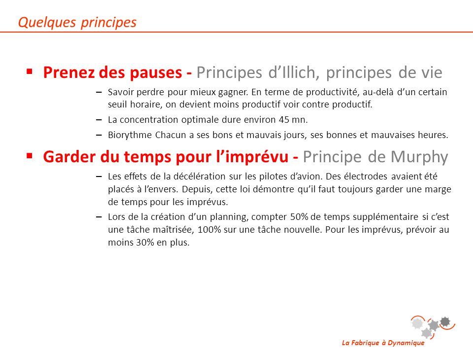Prenez des pauses - Principes d'Illich, principes de vie