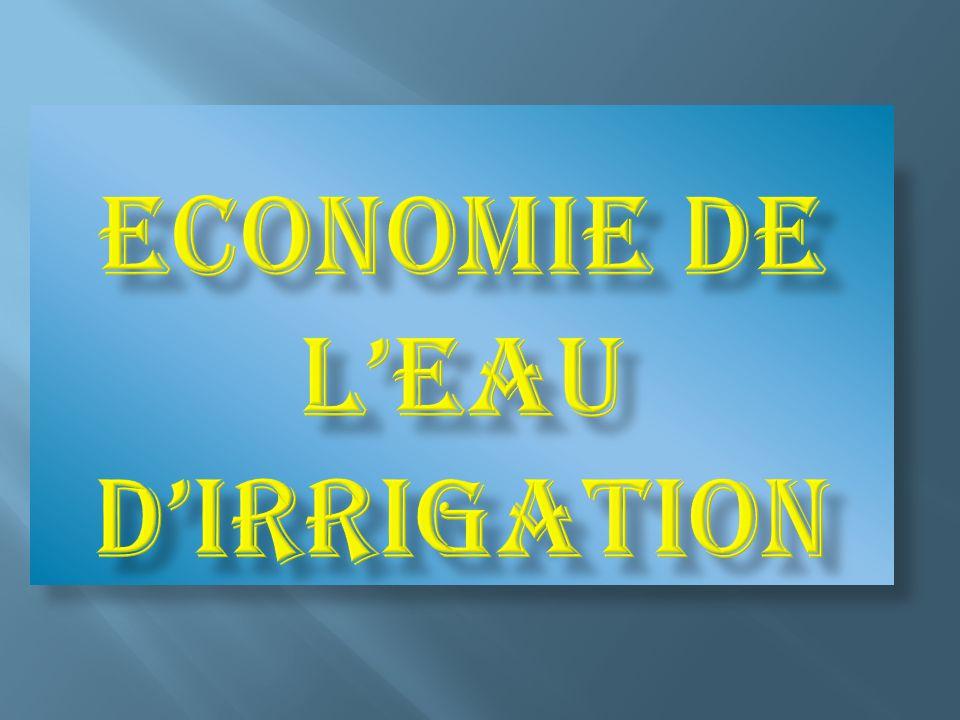 Economie de l'eau d'irrigation