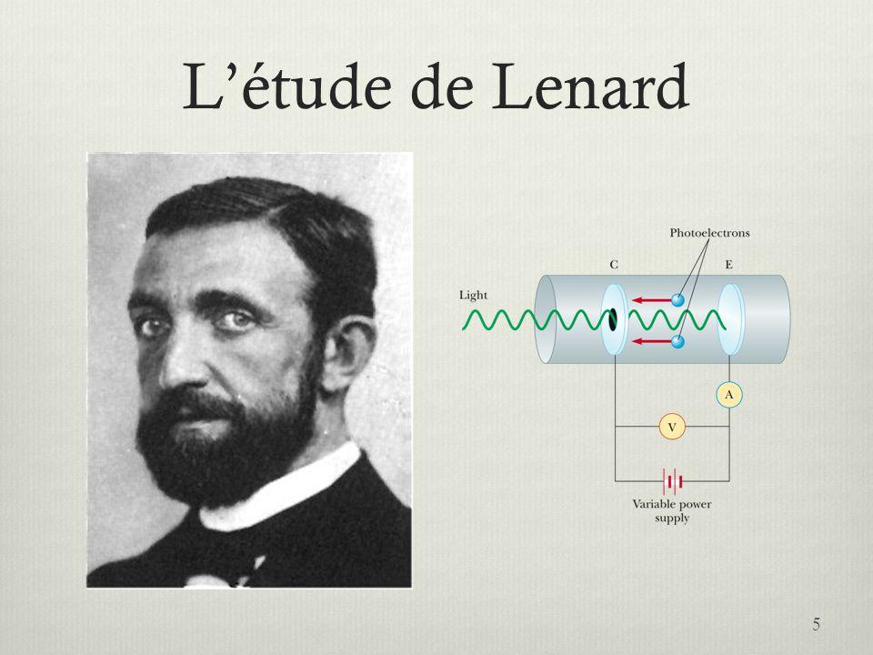 L'étude de Lenard