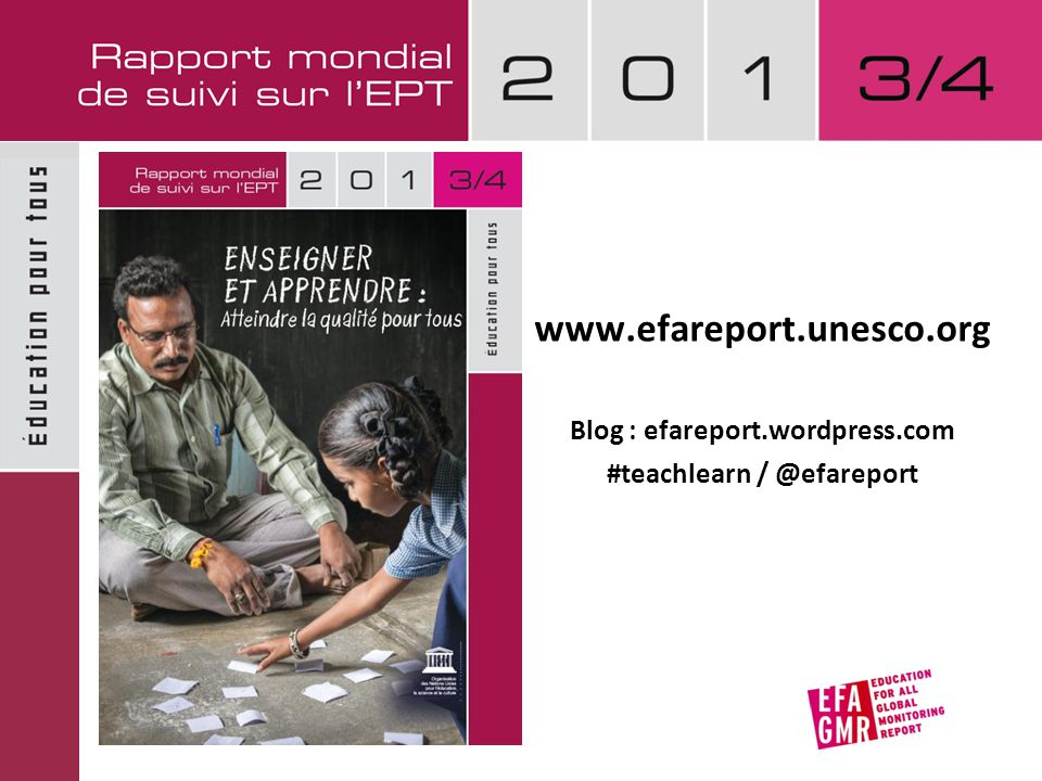 Blog : efareport.wordpress.com #teachlearn / @efareport