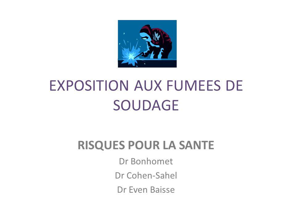 EXPOSITION AUX FUMEES DE SOUDAGE