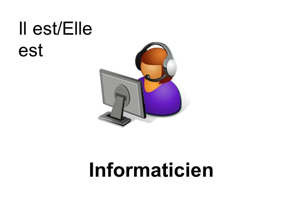 Il est/Elle est Informaticien