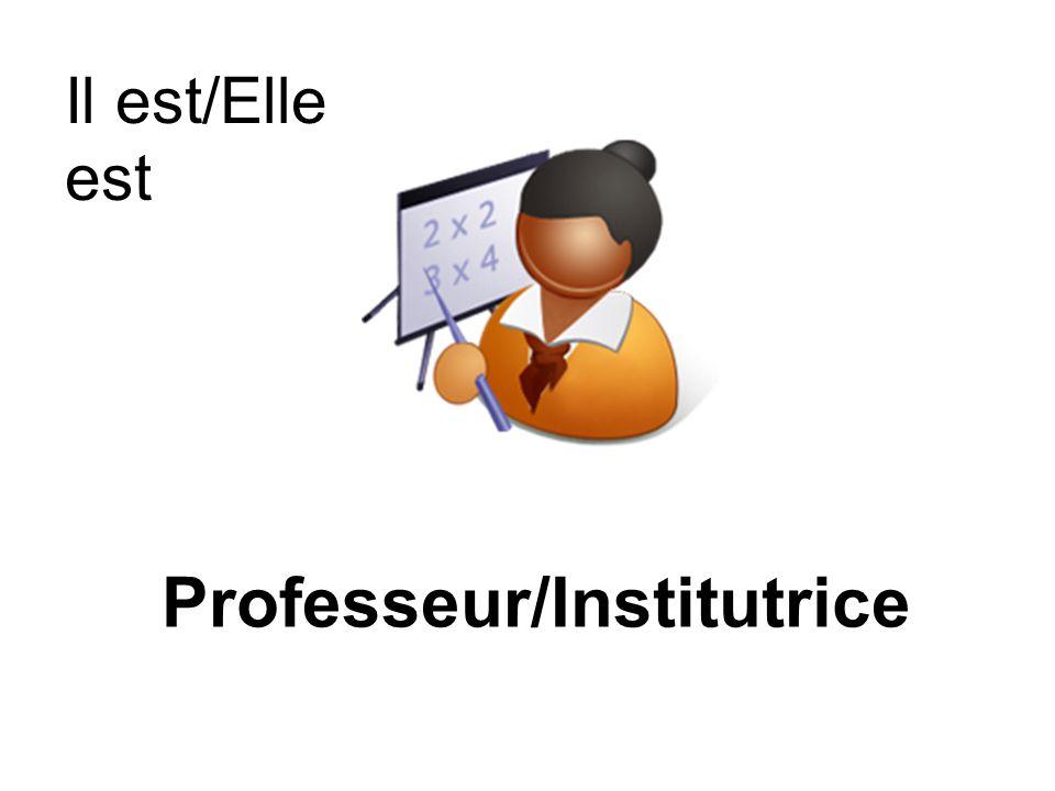 Professeur/Institutrice
