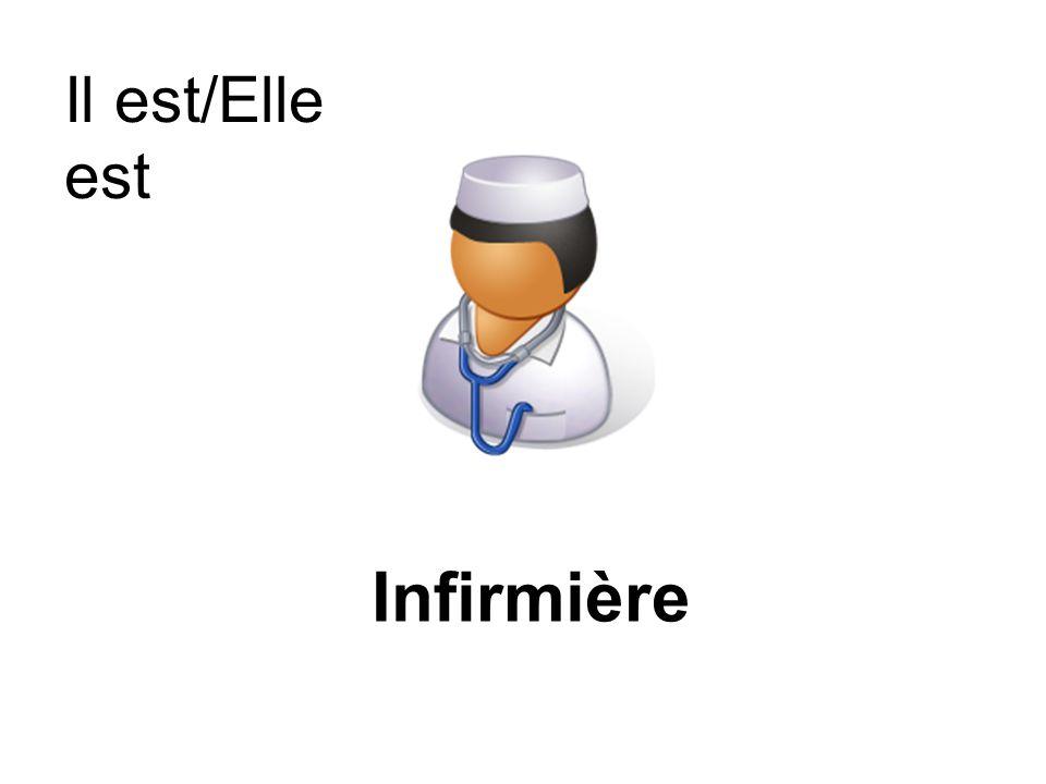 Il est/Elle est Infirmière