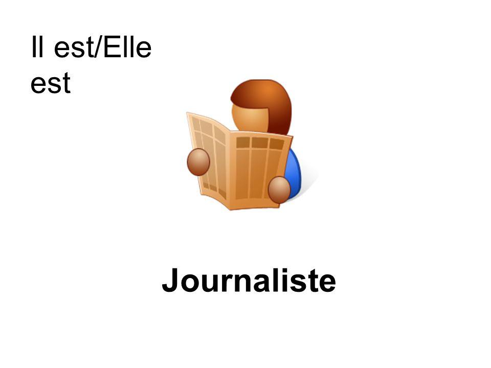 Il est/Elle est Journaliste